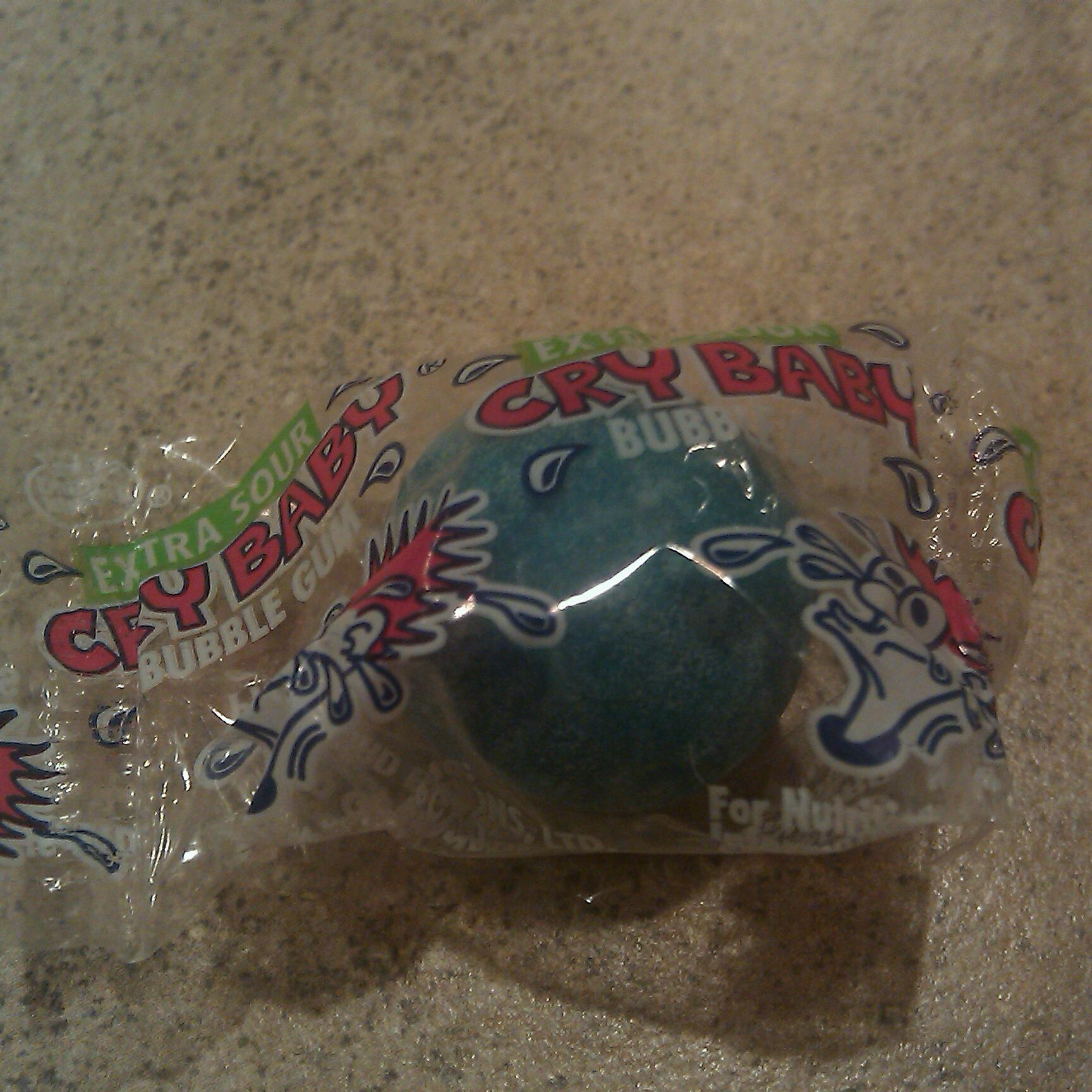 AZ :: crybaby sour gum ball so sour it hurts really bad