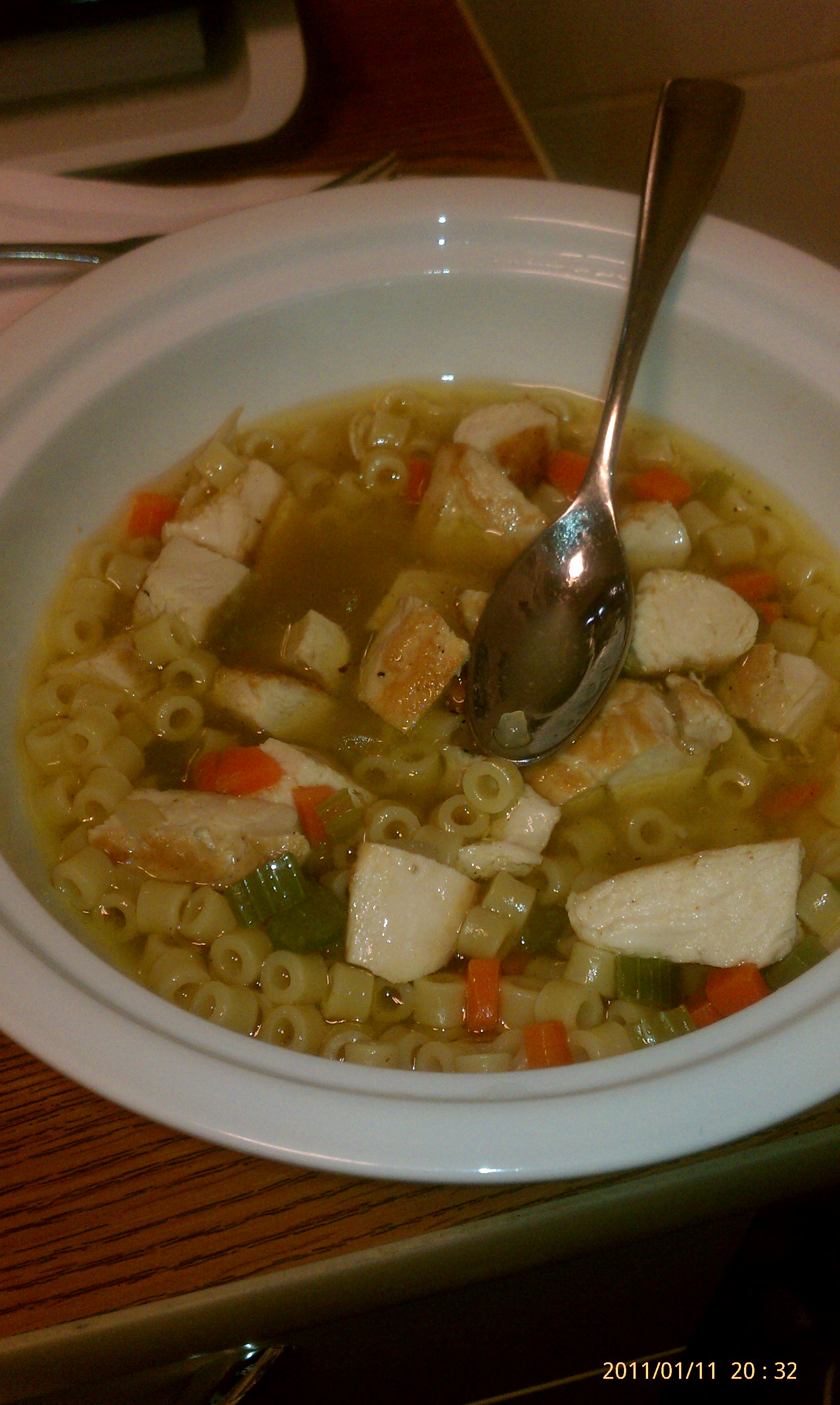 By belly! :: Chicken noodle soup.