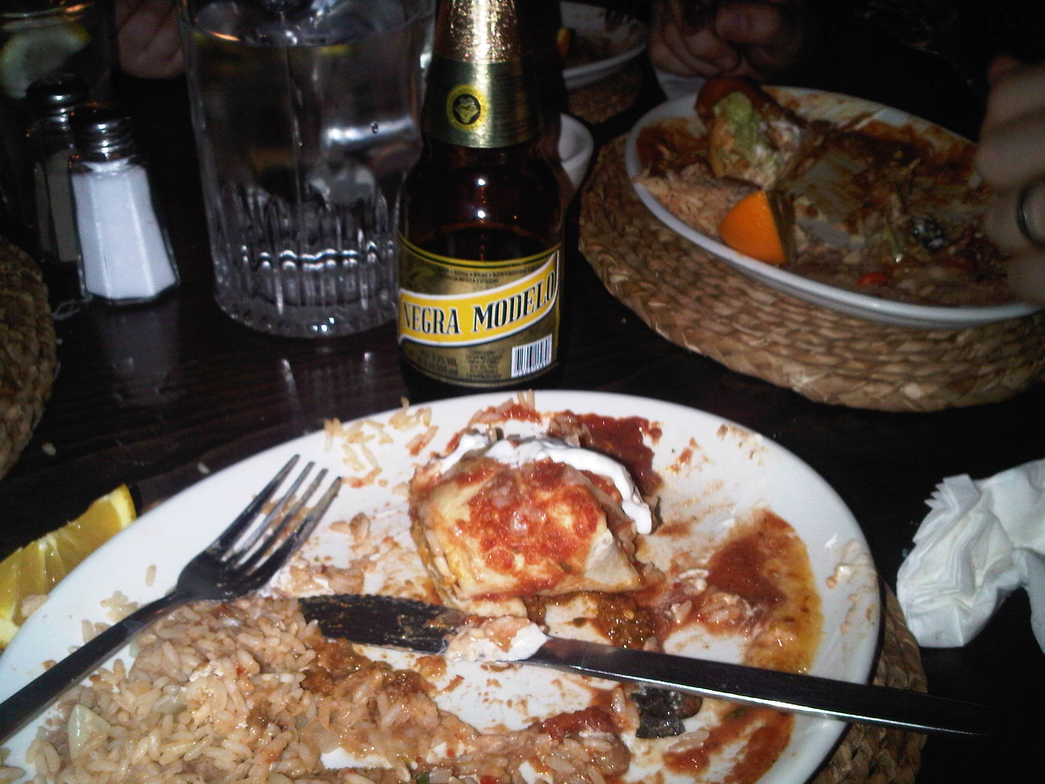 london, UK :: Burrito and a negra modelo at cafe Pacifico