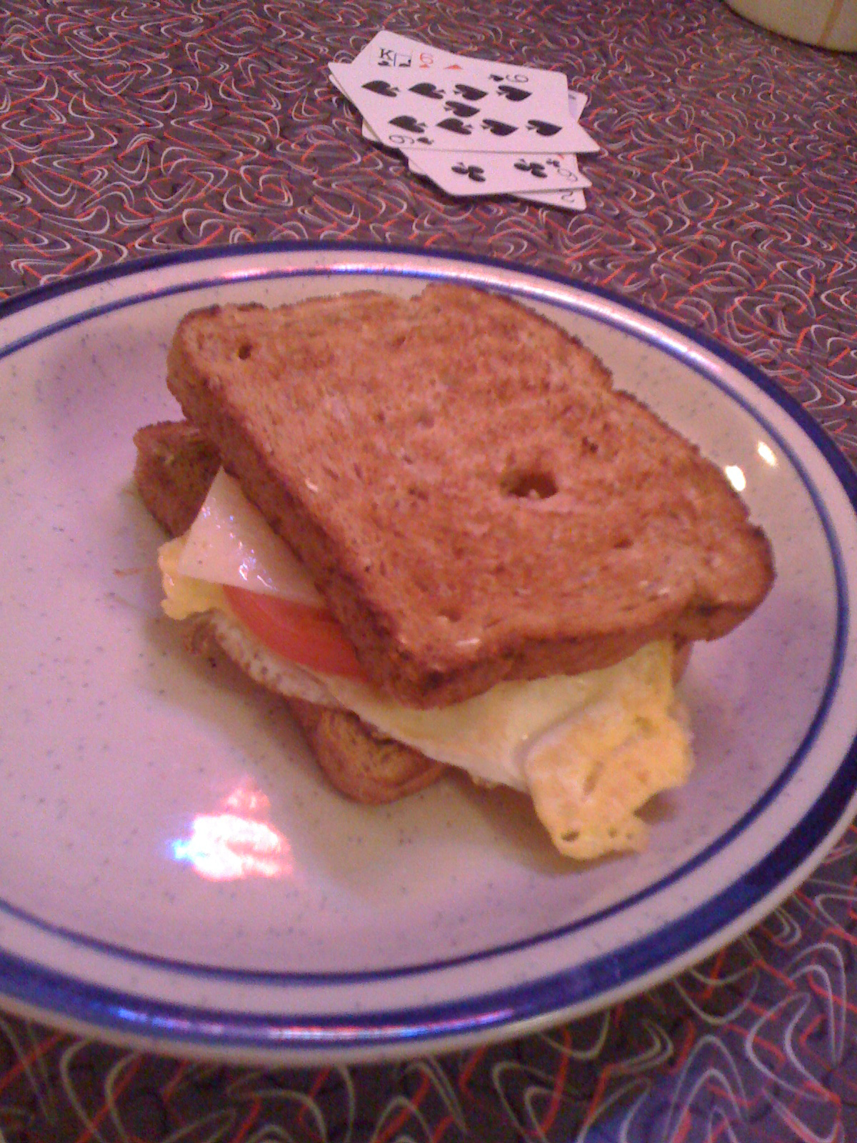 Red-Arrow Milford, NH :: I wanted a grilled cheese with tomato and a flat egg... what I got was breaded toasted on eachside with very little cheese.... a grilled cheese has lots of cheese in it!!!!  lets go red-arrow people!