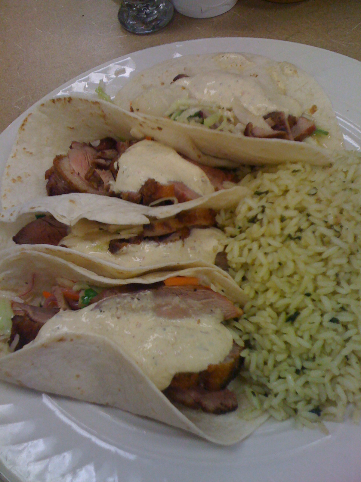 Marriott Lunch Room :: Duck Taco's!  ever have one of them?  well  have and they are great!!!