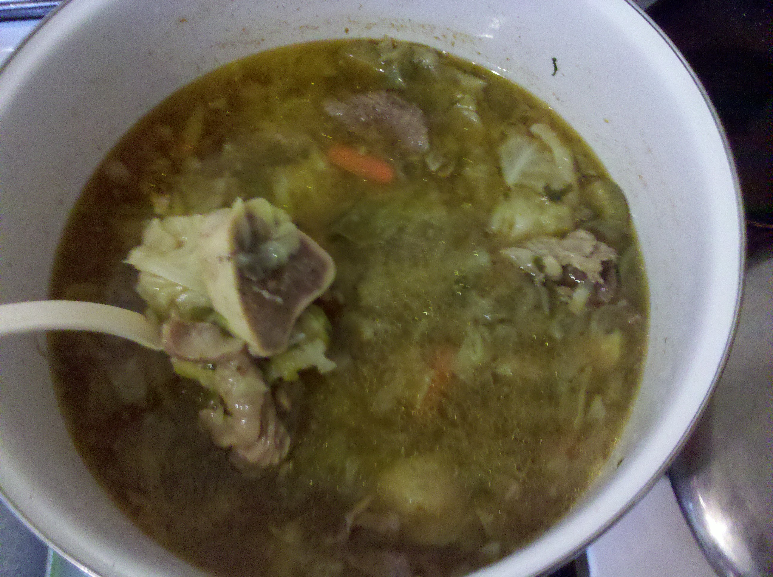 Texas :: Caldo de Res (Mexican beef stew)  This has your average soup. Great for hangovers