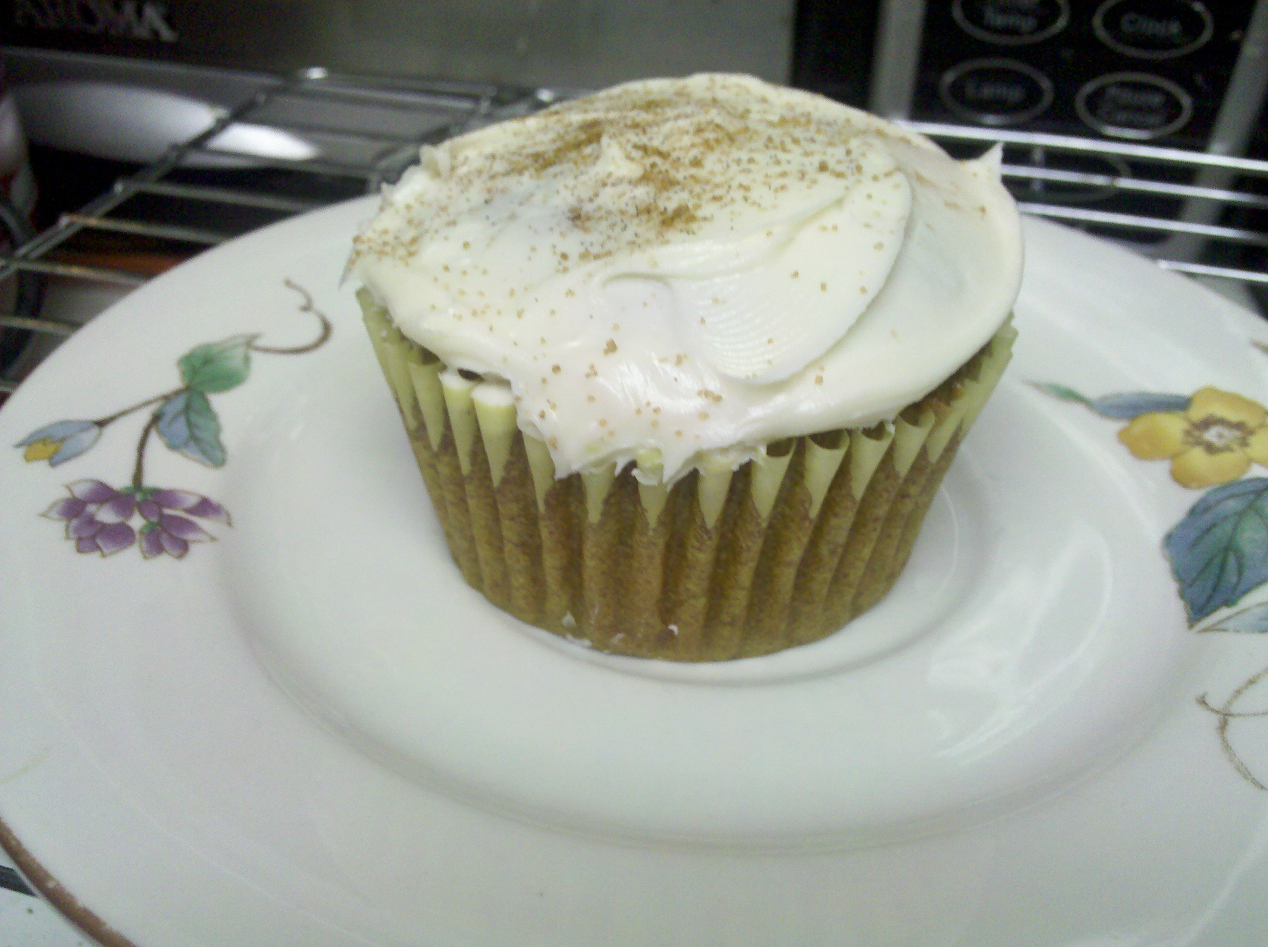 Illinois  :: Mini Pumpkin Muffins - topped w/ cream cheese icing and cinnamon & sugar sprinkles.