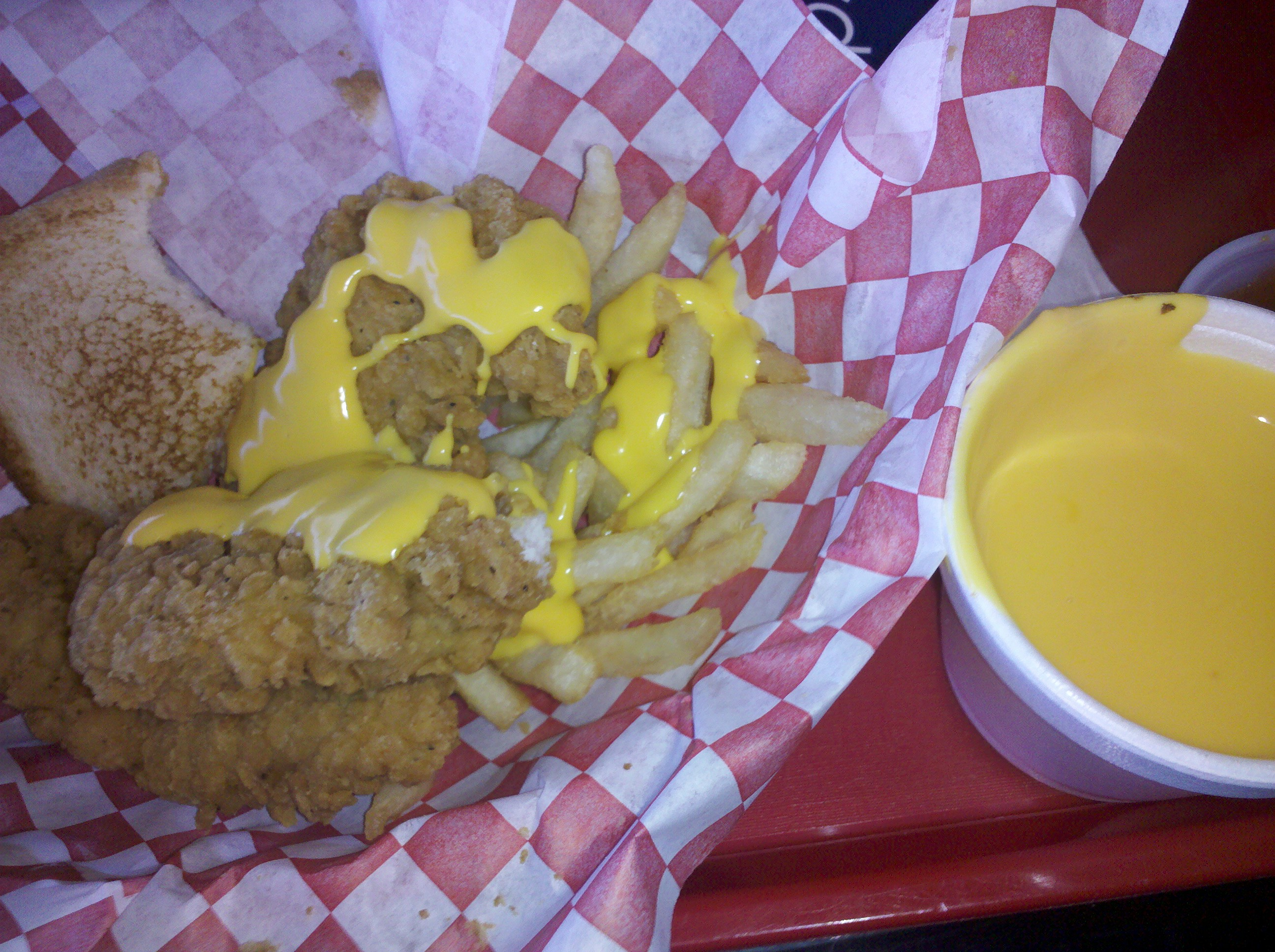 Dairy Queen :: chicken tenders W/cheese..Yummy