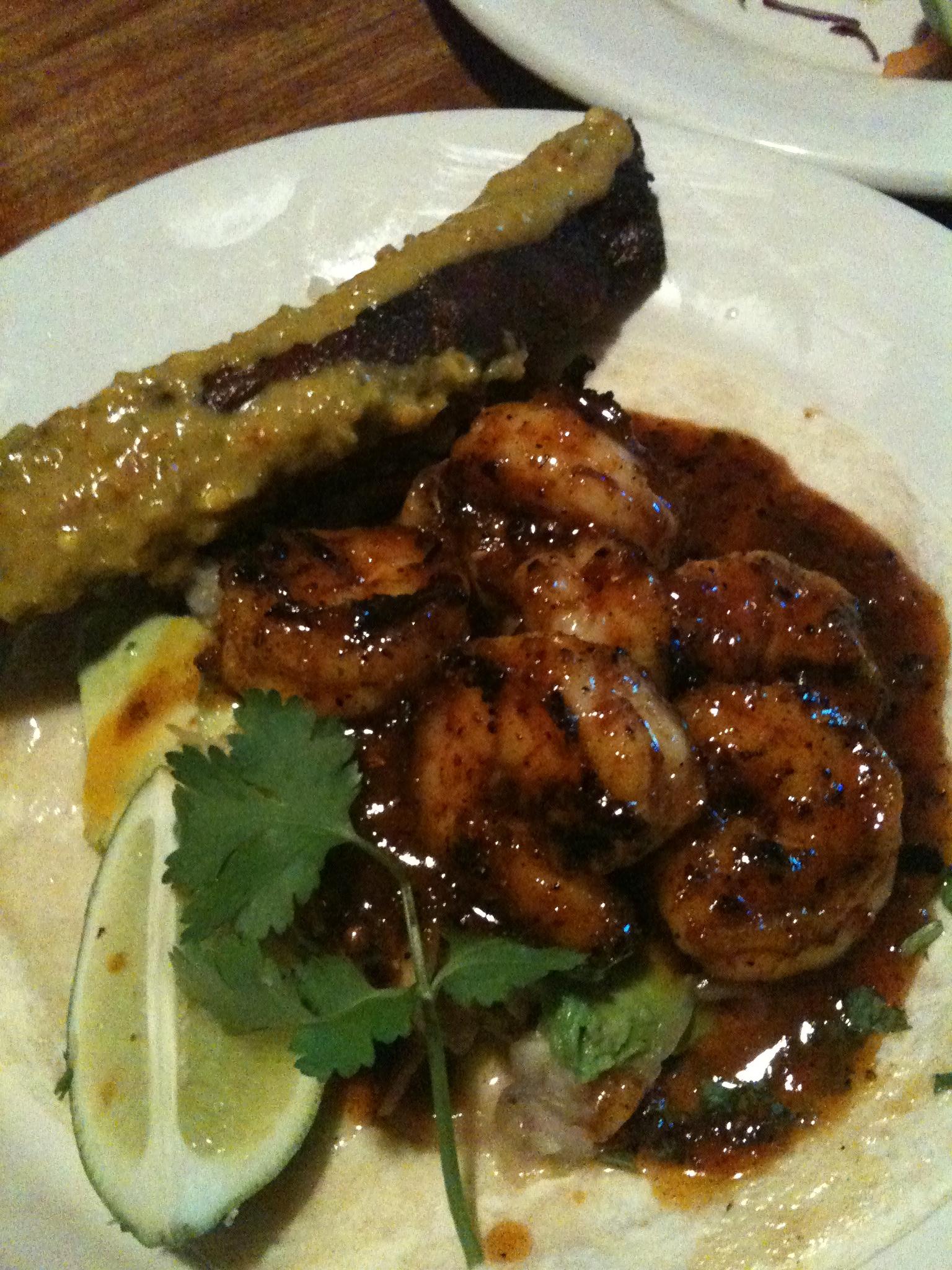 East Coast Grill -  Cambridge, MA :: Shrimp taco from the East Coast Grill was no shrimp... I got 2 of them!