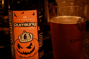 Brooklyn, NY :: We washed down our homemade agedashi tofu with this Pumpking beer. This is the tastiest pumpkin beer ever!