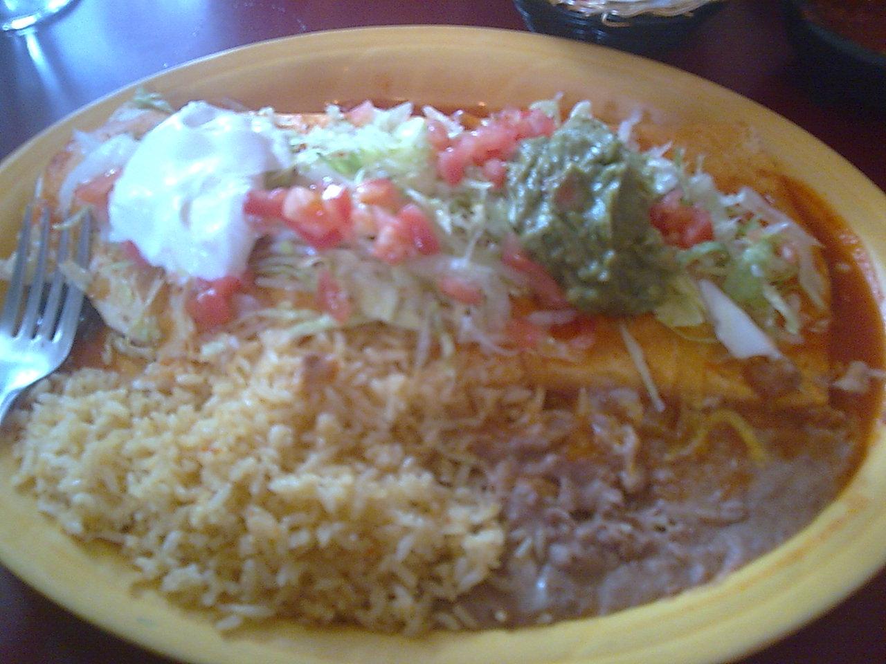 Vancouver, WA :: super burrito from El Rancho Viejo. BOMB!