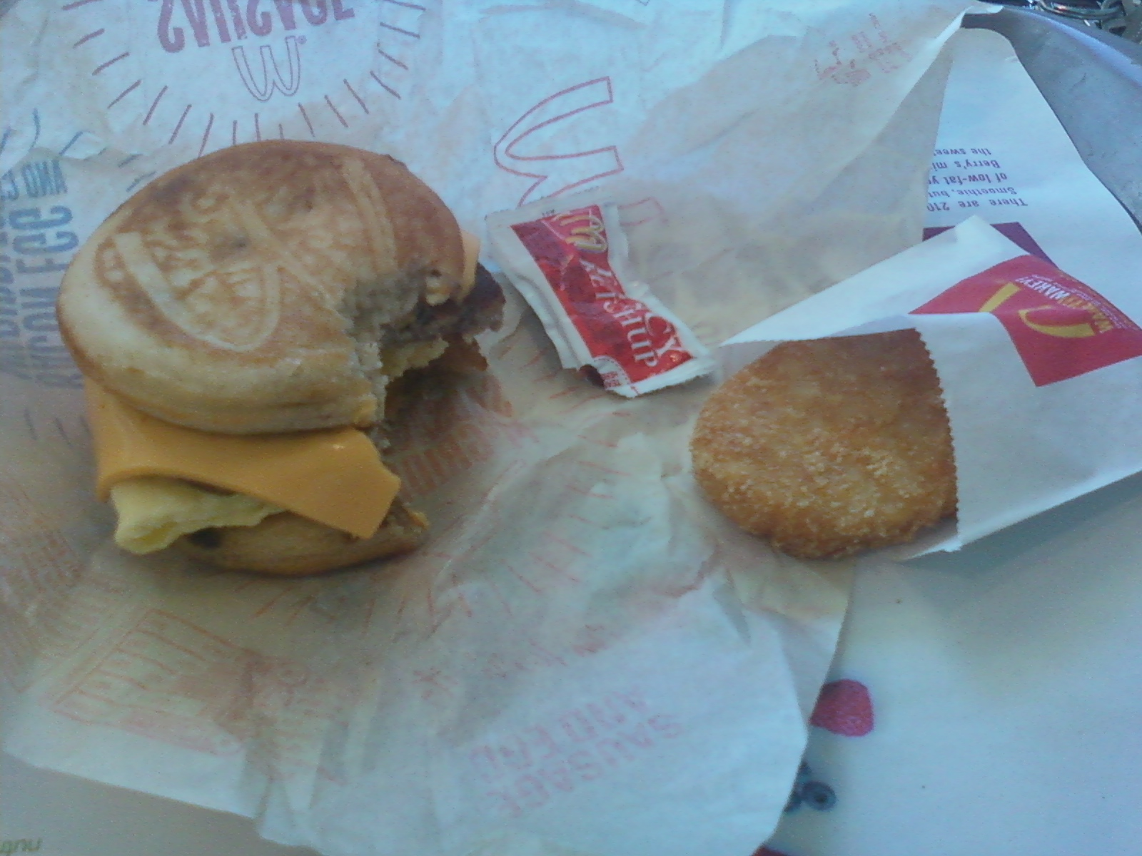 Merrimack, NH, USA :: I do love the McDonald's McGriddle with a hashbrown and sweet tea.