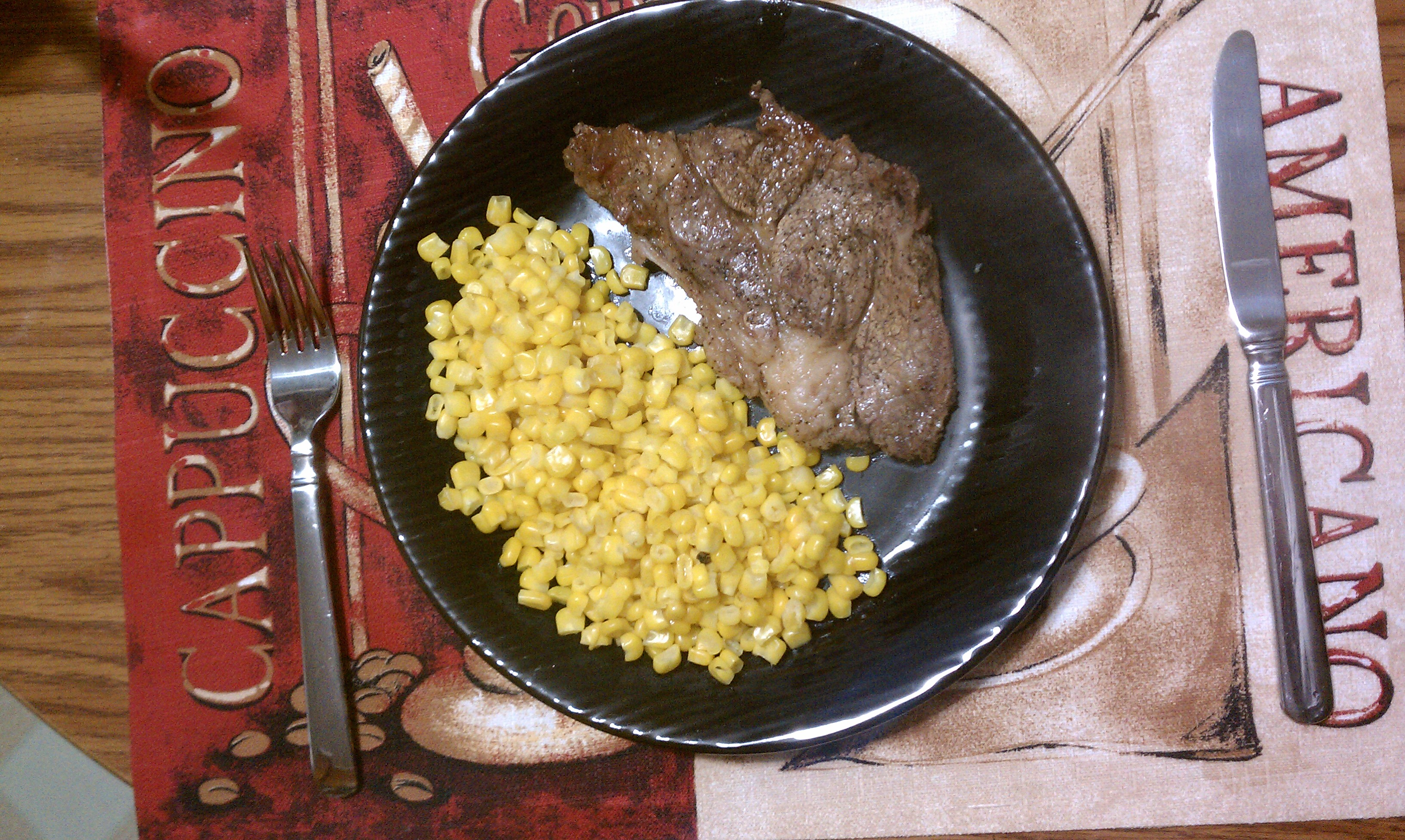 new britain CT :: steak and sweet corn