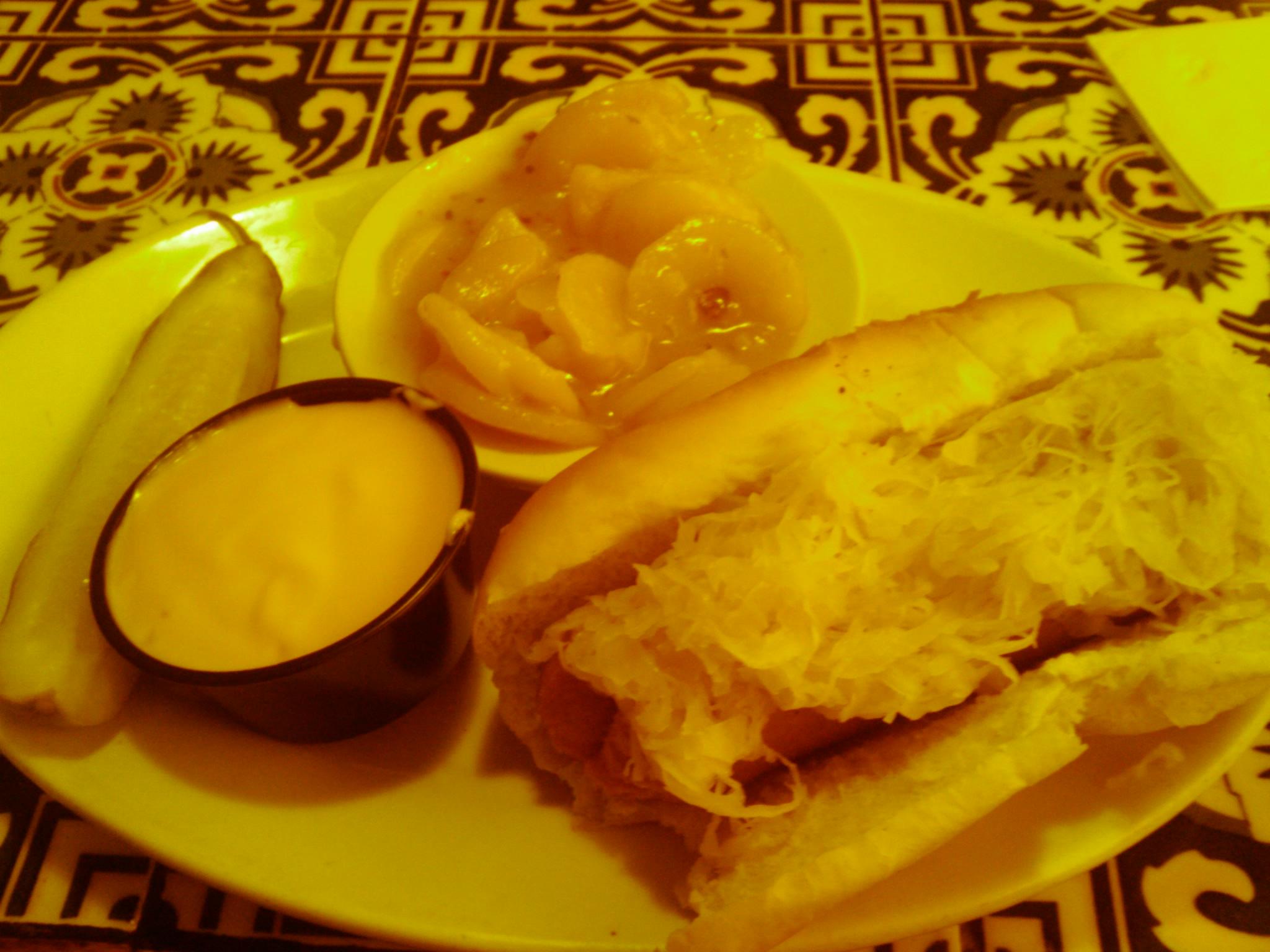 1St Ward  :: knockwurst with sauerkraut hot German potato salad