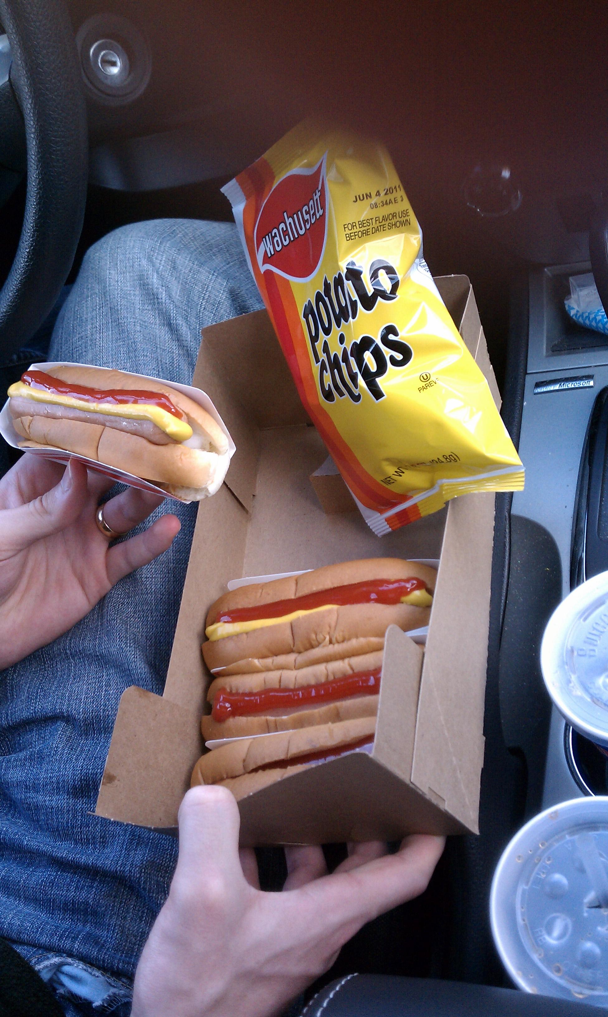 Hayward's Ice Cream Milford NH :: Hayward's hotdog special x2
