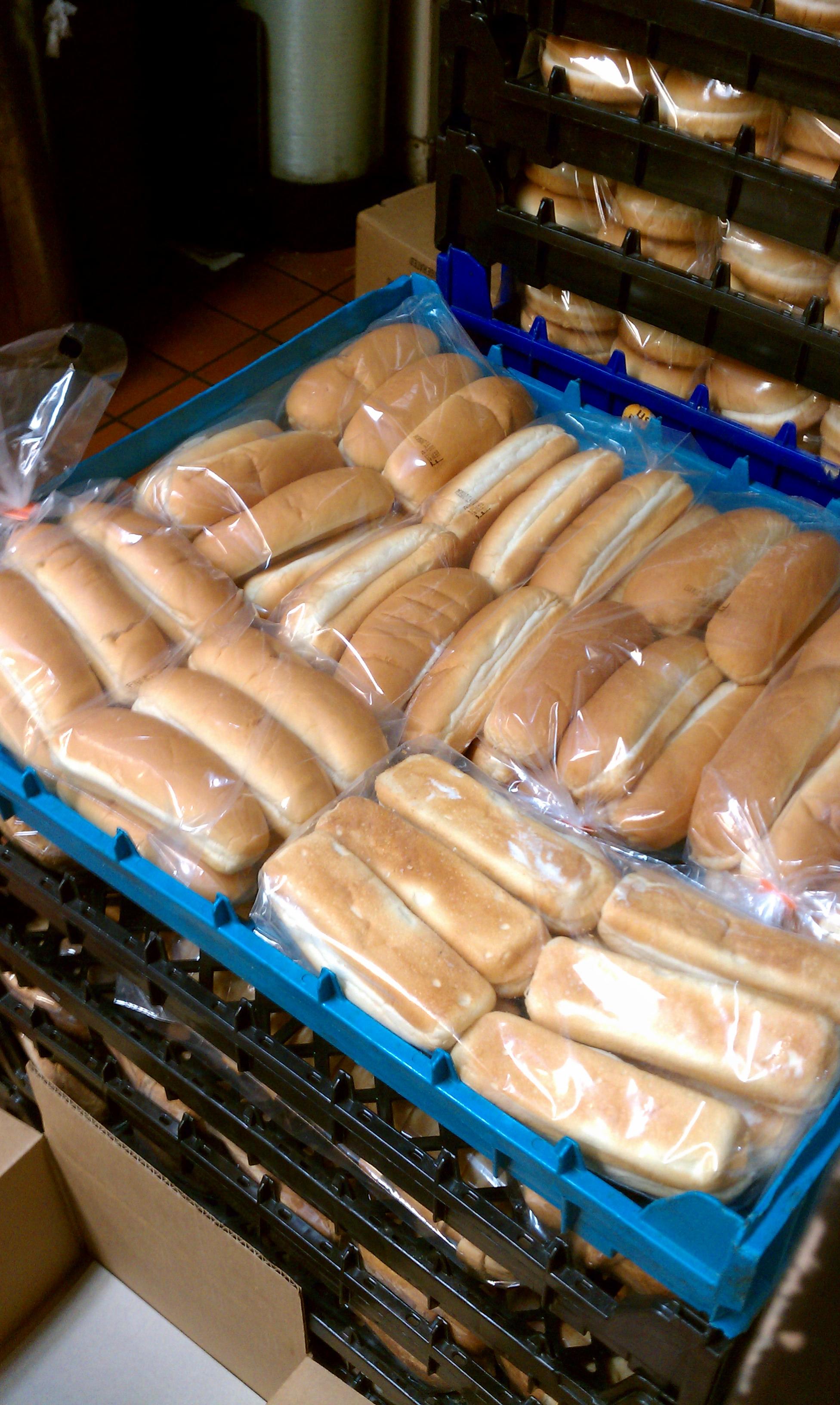 Jib, wa :: Hot dog buns. At jack in the box. Very wrong delivery