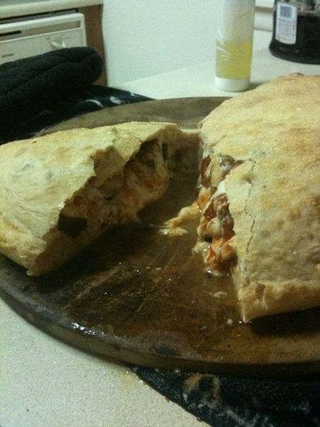 My Kitchen :: Homemade steak and cheese calzone