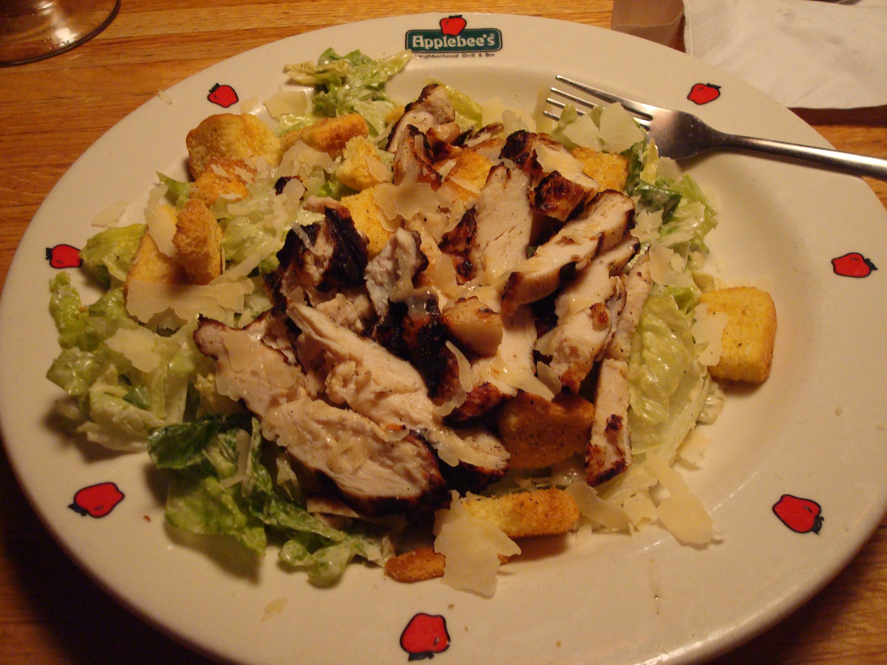 Applebee's Keene NH :: chicken caesar salad