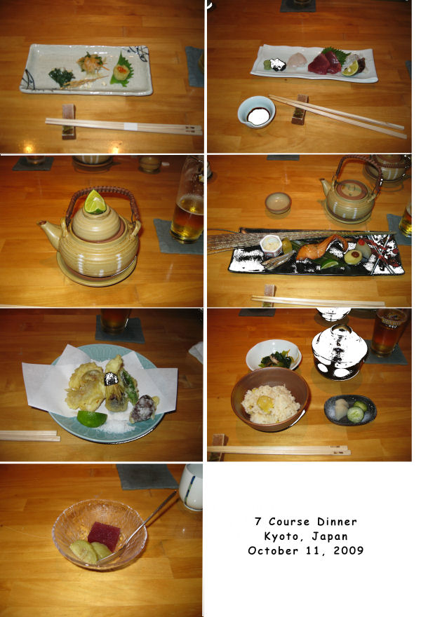 Kyoto, Japan :: Sitting on a mat around a low table, we were treated to this delightful dinner by our friends Ryuzou-san and Kazuko-san after a day of touring Kyoto, Japan.