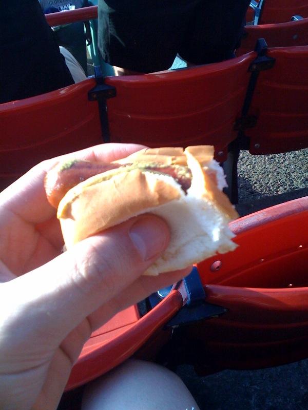 Fenway Park Boston, MA :: 3/4 eaton fenway frank!!! I gobbled it up really fast!!