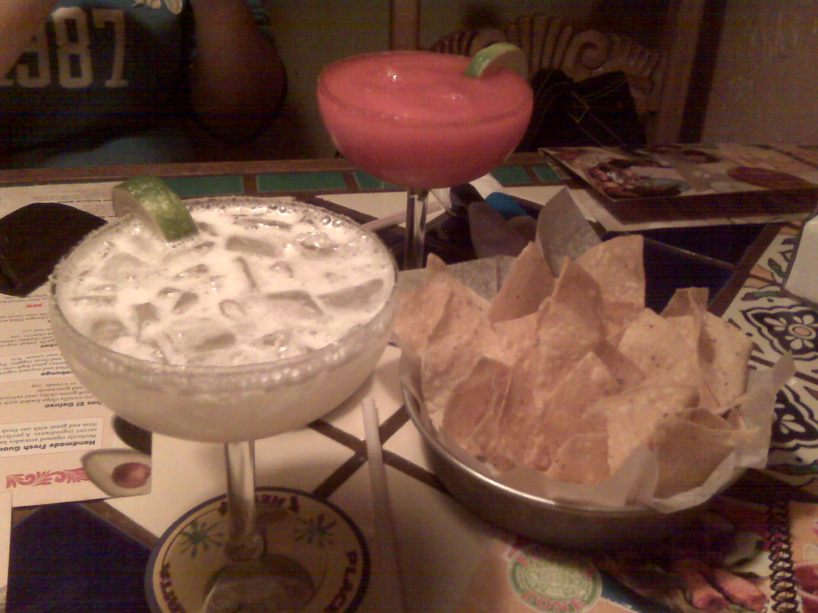 Margarita's Restaurant, Keene NH :: Margaritas! Strawberry for Samantha and Original for me!