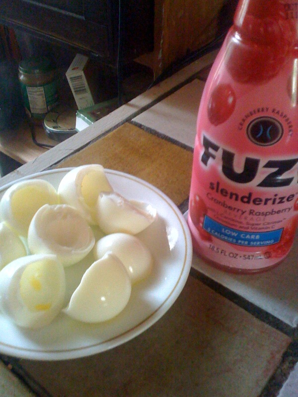 Cambridge, MA :: Nothing beats 4 egg whites and Fuze 10 calorie drink for breakfasst!!!