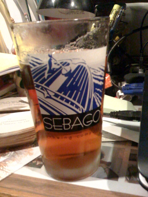 Dahlen House Hold Milford, NH :: some Sebago beer in a Sebago glass... I think it was the Fry's Leap IPA
