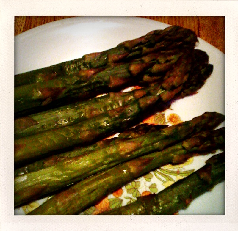 My House Cambridge, MA :: steamed asparagus is always a good time!!  I like them grilled too