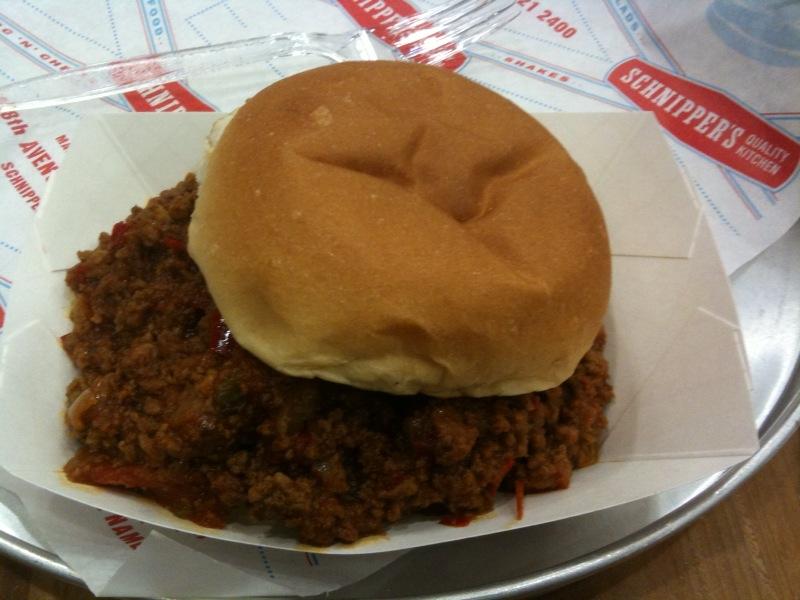 New York :: sloppy joes from schnipper's quality kitchen!  extra sloppy.  extra tasty.