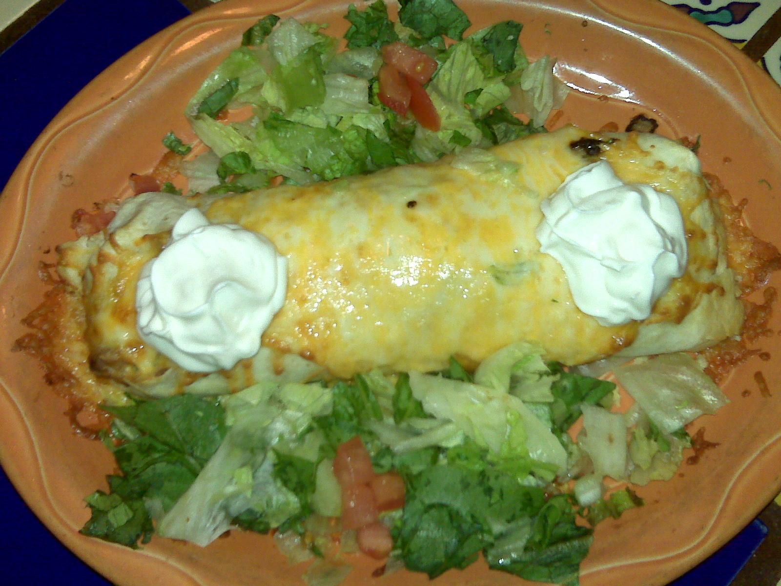 Margarita's Restaurant, Keene NH :: Veg. burrito from margaritas!