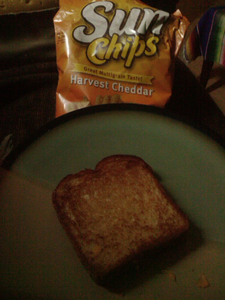 Vancouver, WA :: grilled cheese an sun chips. breakfast of champions right here lol