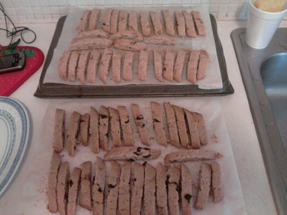 eastern ct :: cherry and wanut biscotti for thankgiving.