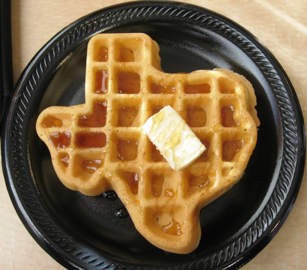 Dallas, Texas :: Texas shaped waffles at Spring Hill Suites Hotel in Fort Worth.