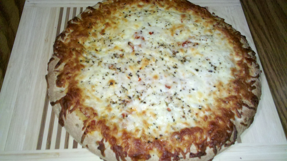 new britain ct :: some tasty DiGiorno 4 cheese pizza with some added topping!