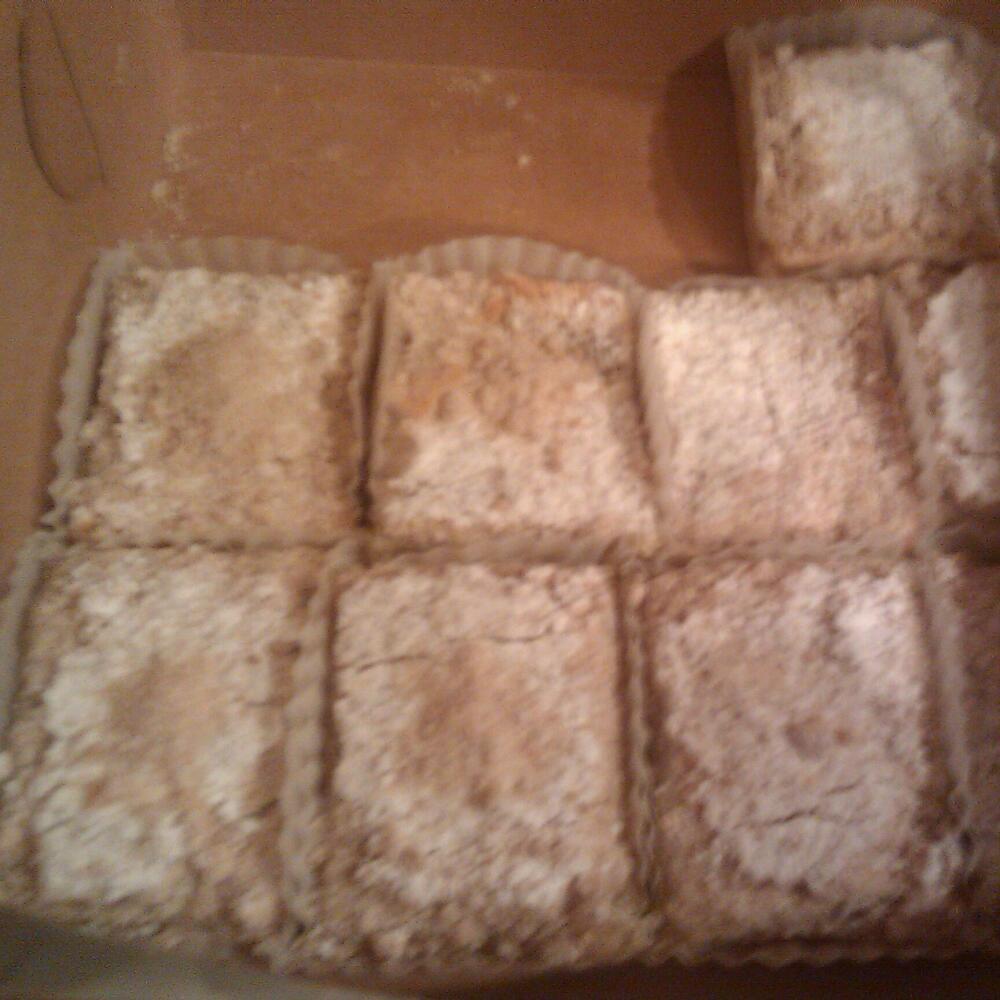 Yummy town :: lemon bars :) 12 for 10 bucks. Fresh from a bakery