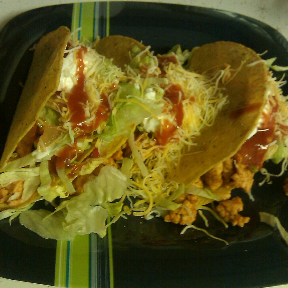home Baltimore md :: taco night! made with ground turkey breast, ff Greek yogurt for sour cream, and ww cheese.