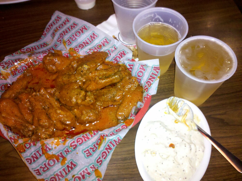 Htown Texas :: Delicious Wings from Wings-N-More. Thursday 95. Beer night :)