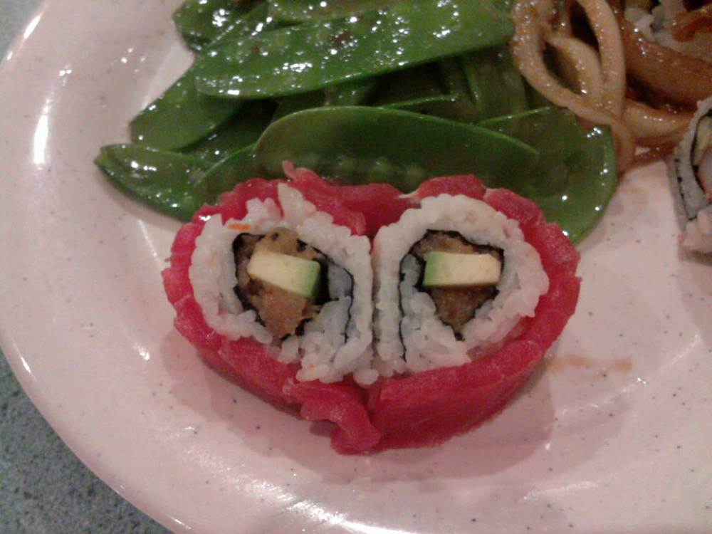 eastern ct :: valentines day sushi from fusion buffet in waterford ct.  very good place