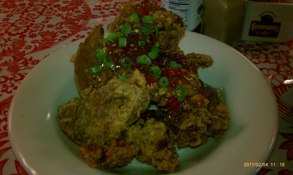 new orleans :: fried chicken livers with a pepper jelly