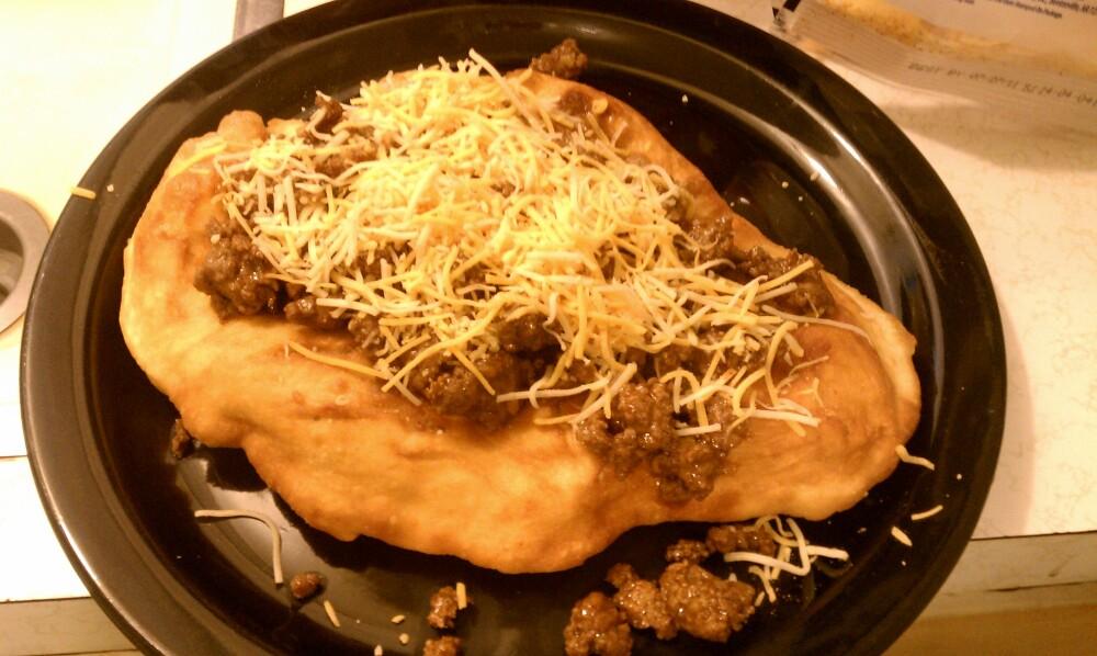 Oklahoma :: Homemade Indian taco