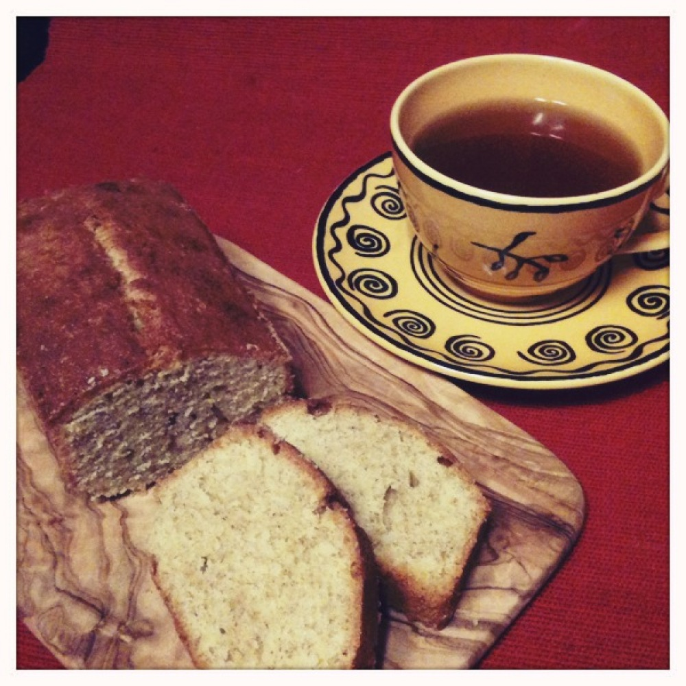 Tokyo, Japan :: Poundcake I baked. I used whole wheat flour. much brown and its taste was yum! good for it with black tea.
