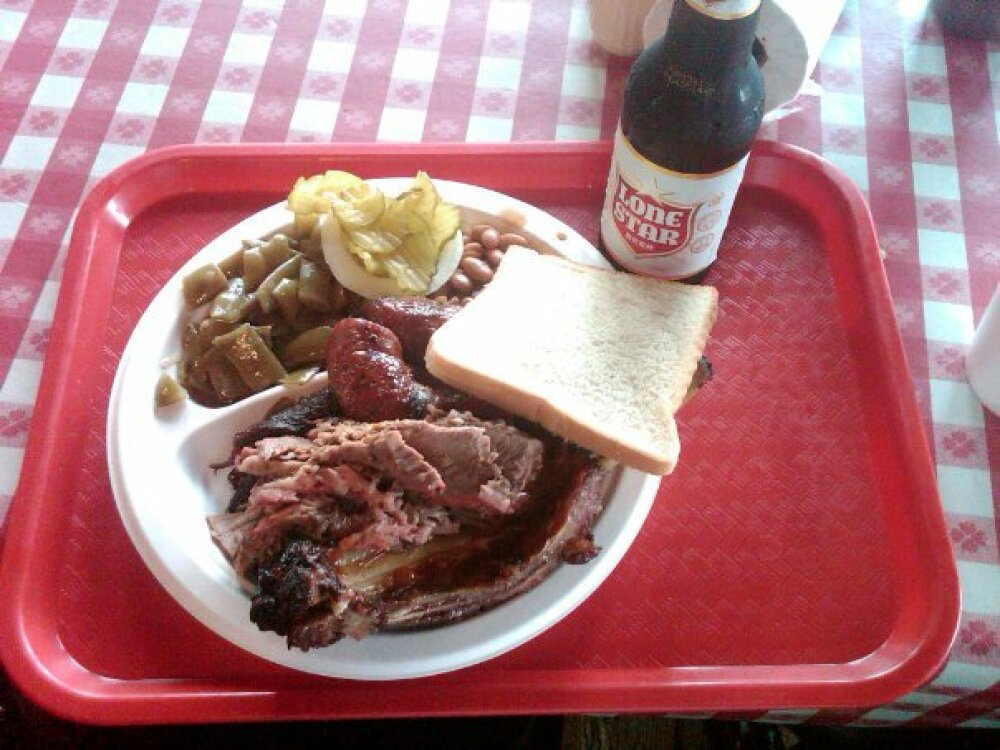 "Iron Works; Austin, TX :: ""I'll take the biggest plate of random meat you've got."""