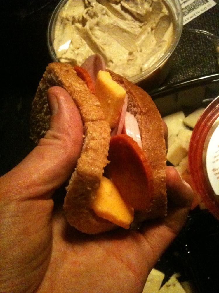 Rubber Gloves - Denton, TX :: Bread-Cheese-Meat foldover