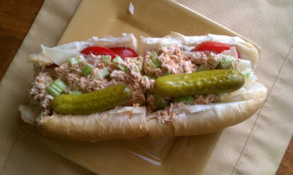 providence ri :: Spicy tuna, with tomatoes, pickle ,swiss, onions and 
