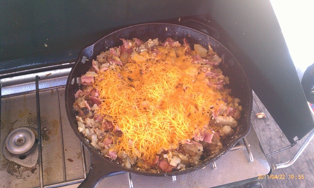 Ponce Inlet Florida :: Skillet Breakfast at the beach