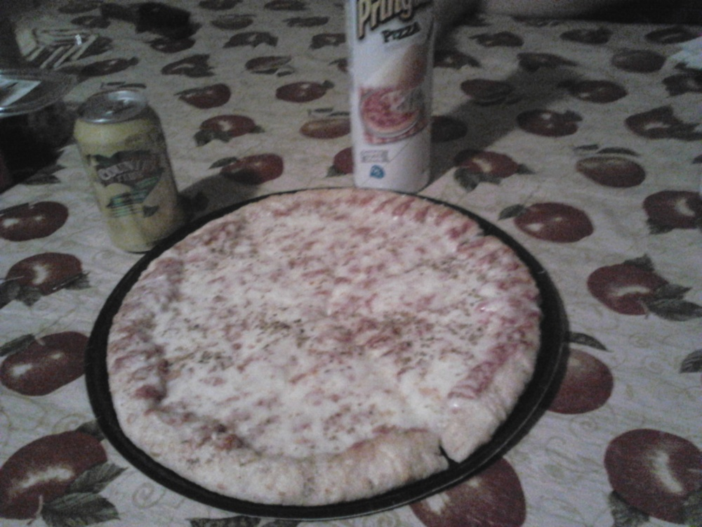 home in Indiana :: homemade pizza w/extra cheese...yum!