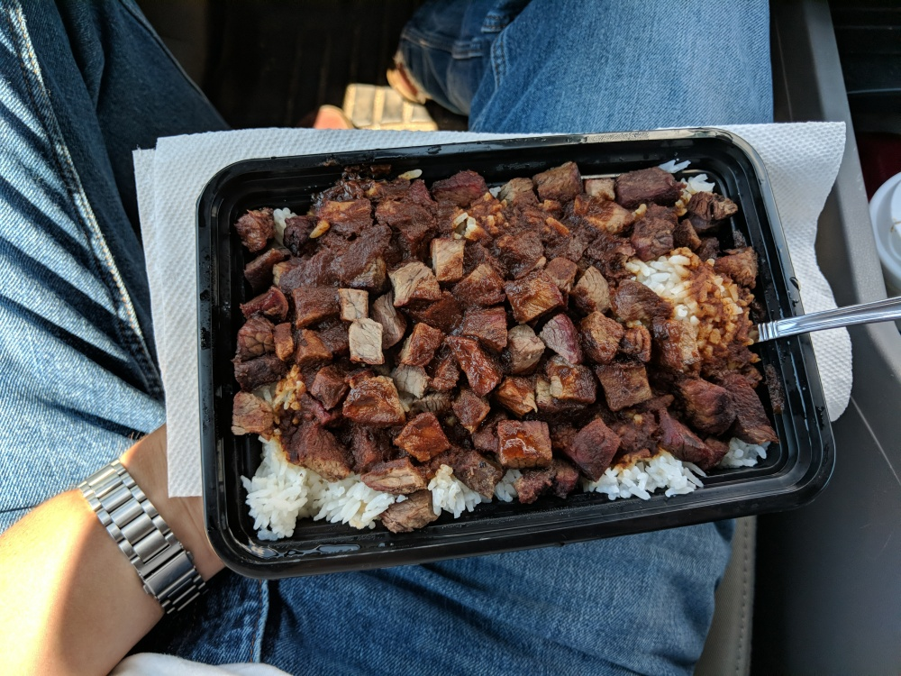 Newington, CT, USA :: Rice, steak, and A1 sauce on lunch break. Bringing A1 back...